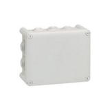 Boîte de dérivation rectangulaire - 155x110x74 mm - fermeture 1/4 de tour - gris