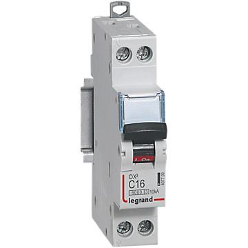 Disjoncteur 1P+N  DX³ 10kA - Courbe C Legrand