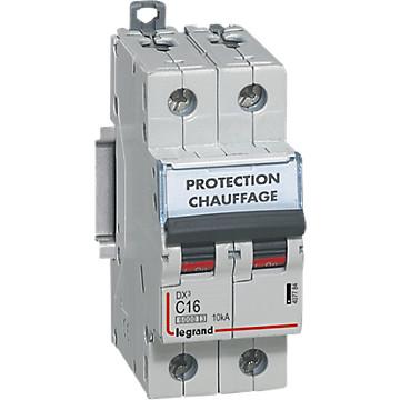 Disjoncteur 2P DX³ 10kA - Courbe D Legrand