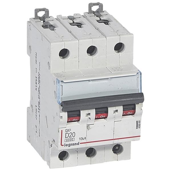 Disjoncteur 3P DX³ 10kA - Courbe D Legrand