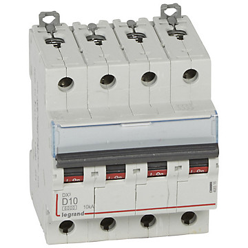 Disjoncteur 3P+N DX³ 10kA - Courbe D Legrand
