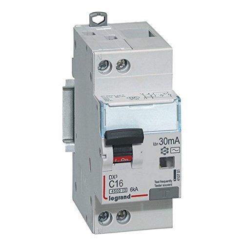 Disjoncteur différentiel PH+N DX³ 6kA Type AC - Courbe C Legrand