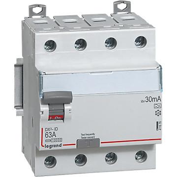Interrupteur différentiel 4P DX³ arrivée haut/départ bas Legrand