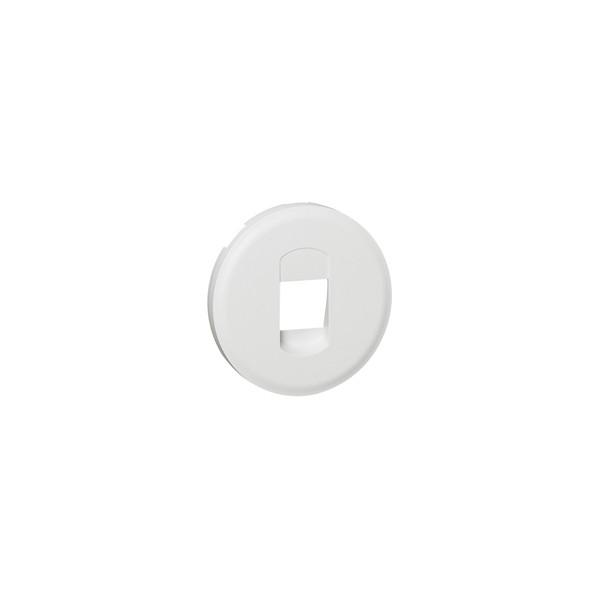 Céliane - Enjoliveur blanc - Prise courant faible Legrand
