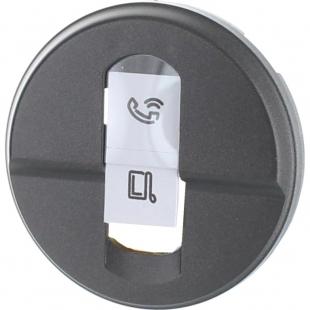 Céliane - Enjoliveur graphite - Prise courant faible Legrand