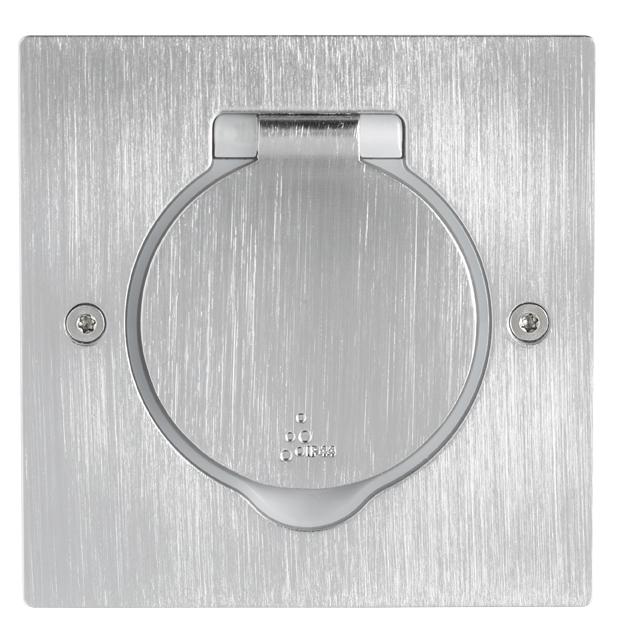 Platinum - Prise de sol carrée et voyant lumineux Legrand