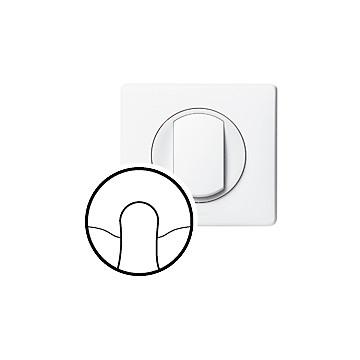 Céliane - Enjoliveur blanc - Sortie de câble / Obturateur LEGRAND