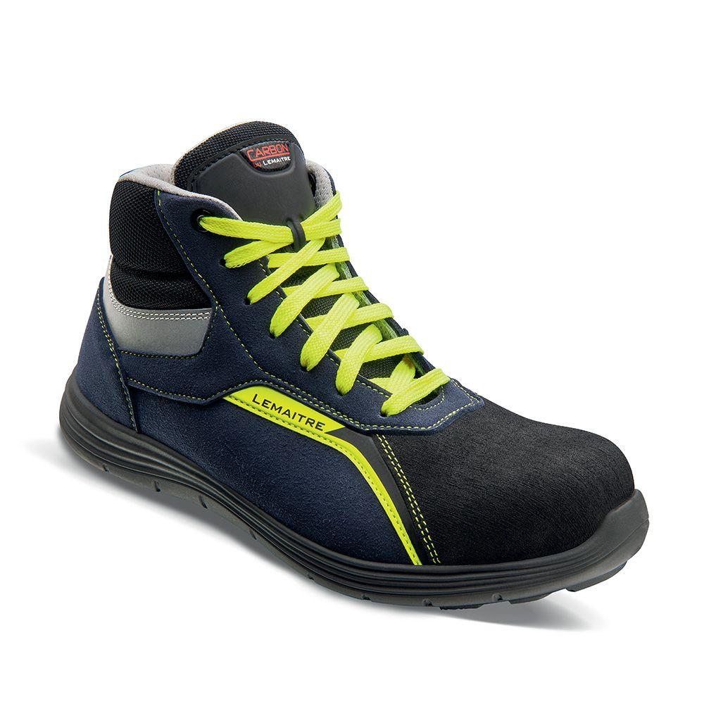 Chaussures hautes Fabio S3 SRC - Bleu/Jaune Lemaître Sécurité
