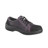 Chaussures basses cuir prune Libert in