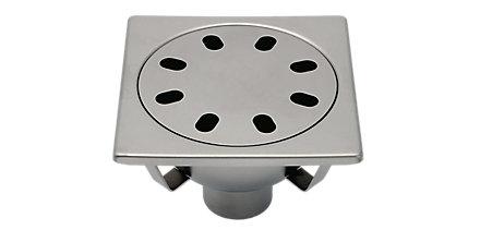 Siphon inox sortie verticale classique 200 avec rosette standard