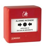 Déclencheur manuel rouge alarme incendie
