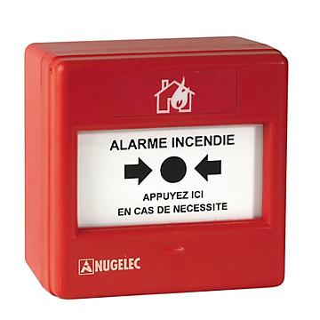 Déclencheur manuel rouge - Alarme Nugelec
