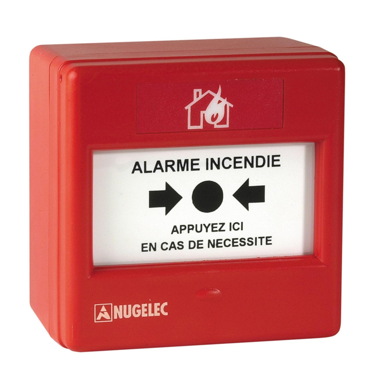 Déclencheur manuel rouge alarme incendie Eaton