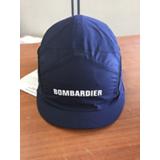 Enveloppe de rechange marine marquée Bombardier pour casquette visière courte