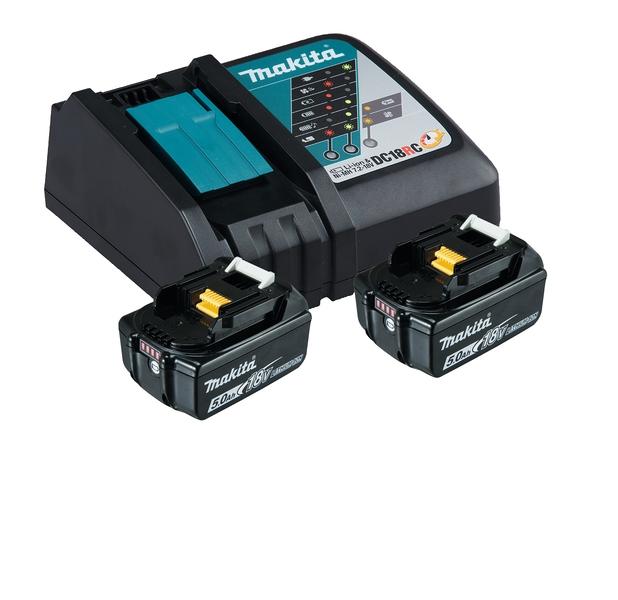 Ensemble de 2 batteries et chargeur 18V 5 Ah Makita