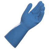Gants protection chimique latex naturel bleu Harpon 326