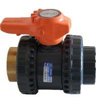 Vanne BS PVC pression FF à coller / taraudée laiton - type VXEIFOV
