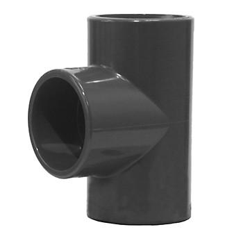 Té 90° égal FFF PVC pression à coller Aliaxis