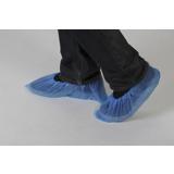 Surchaussures polyéthylène bleues