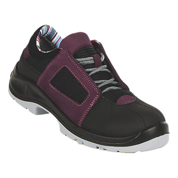 Chaussures de sécurité basses aubergine Air lace Gaston Mille