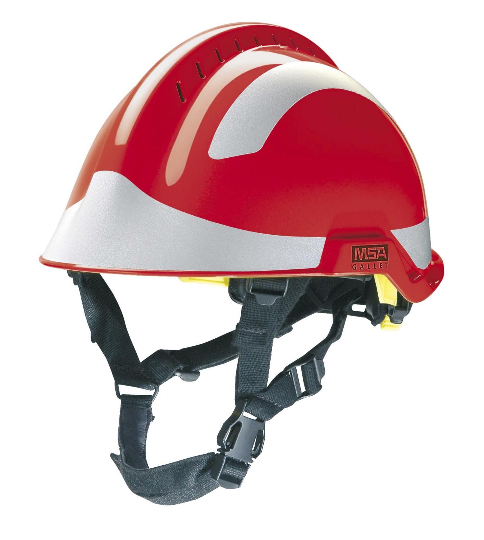 Casque de pompier rouge F2 X-TREM MSA