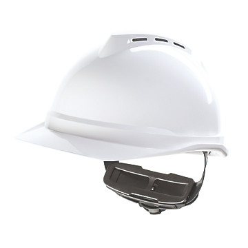 Casque de chantier blanc V-gard 500 MSA