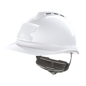 Casque de chantier blanc ventilé V-Gard 500 MSA
