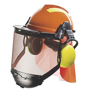 Casque de protection forestier complet V-Gard 500 MSA