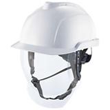 Casque de chantier blanc avec écran intégré V-GARD 950 logo RTE