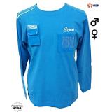 Tee-shirt Everest manches longues coton bleu/vert 032150 B01ZZ EDF