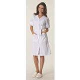 Blouse de travail femme manches transformables 100% coton blanche Josy