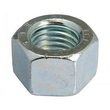 Ecrous hexagonaux H en acier zingué blanc Négoce Plus