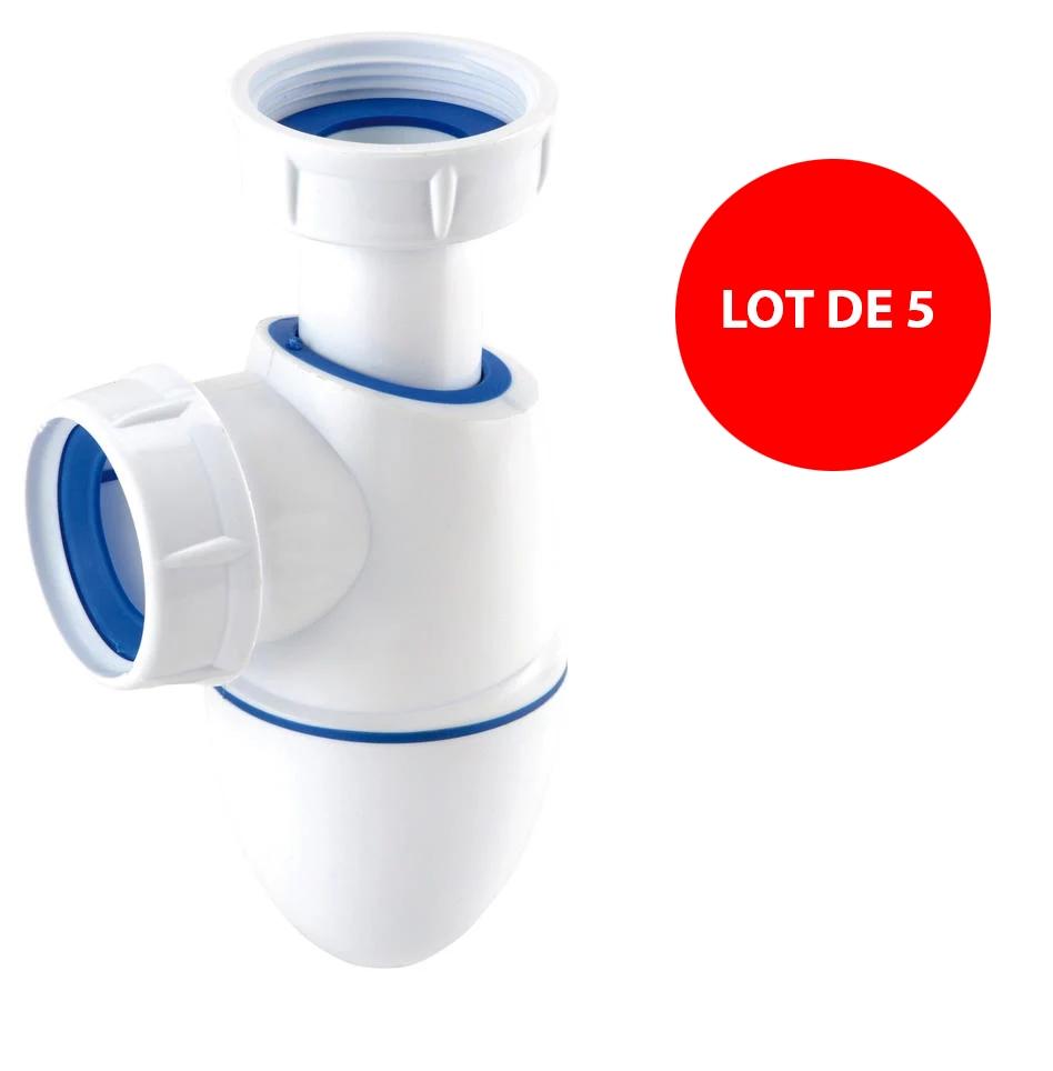 Lot de 5 siphons lavabo Easyphon BM211 Nicoll