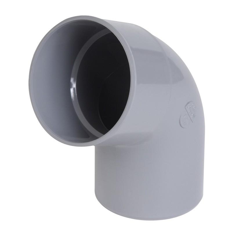 Coude PVC simple MF à 67°30 Nicoll