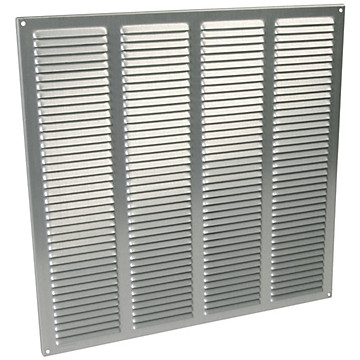 Grille alu anodisée grise Nicoll