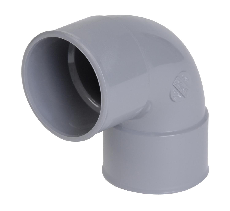 Coude PVC simple FF à 87°30 Nicoll