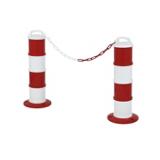 Balises de signalisation modulables rouge/blanc