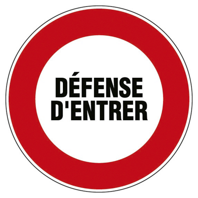 Panneau d'interdiction