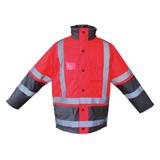 Parka haute visibilité rouge/gris Vizall