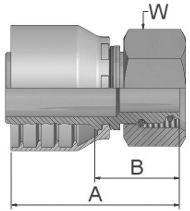 Embouts à sertir série 48 femelle tournant métrique série L avec joint type 1CA48