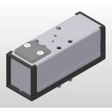 Distributeur 5/3 centre fermé pneumatique-pneumatique ISO 5599-1 série DX-616-70