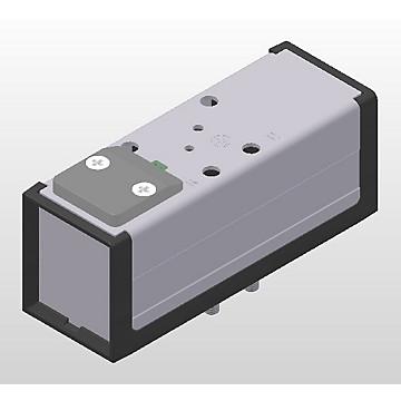 Distributeurs 5/3 centre fermé, pneumatique-pneumatique Iso 5599 - VDMA taille 1 2 et 3, série DX-416-70 Parker