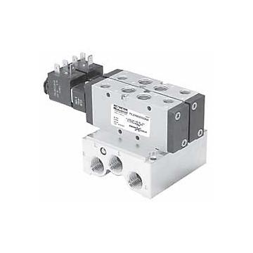 Distributeur Viking LITE en ligne à commande électrique, fonction : 5/2 monostable Parker
