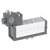 Distributeur 5/2 monostable électrique-différentiel ISO 5599-1 série DX1-651-BL49 complet