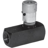 Limiteur de débit unidirectionnel à vis micrométrique série 9FxxxS