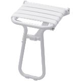 Siège de douche escamotable avec béquille