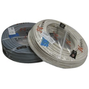 Câble HO5VV-F U500V blanc couronne de 100 ml