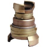 Jonctions doubles demi-raccords symétriques bronze