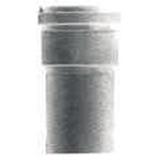Descente droite ronde grise SMU de 1 ML