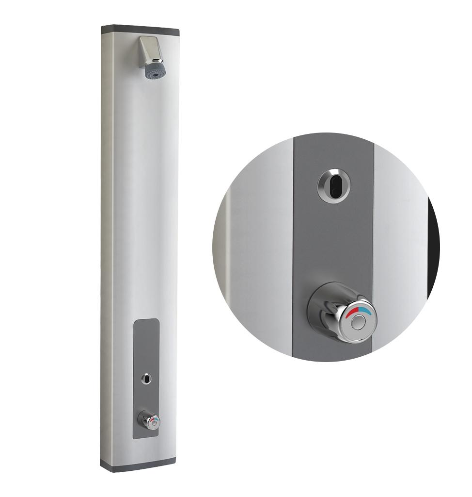 Panneau douche en applique Prestotem 2 Sensor électronique équipé d'un mitigeur thermostatique Presto